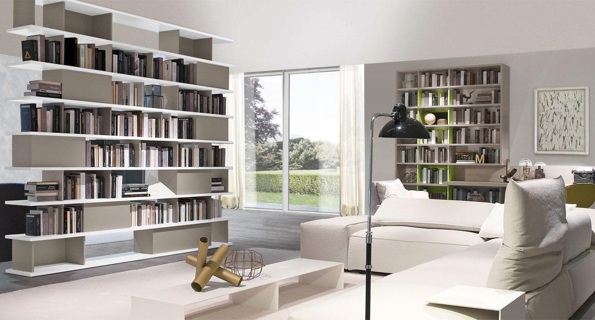 Libreria domino di zalf frapiccini arredamenti for Domino arredamenti