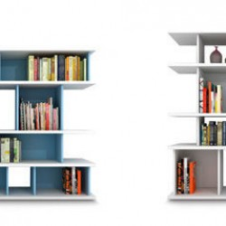 Wall-mounted shelf / contemporary / in wood / lacquered wood