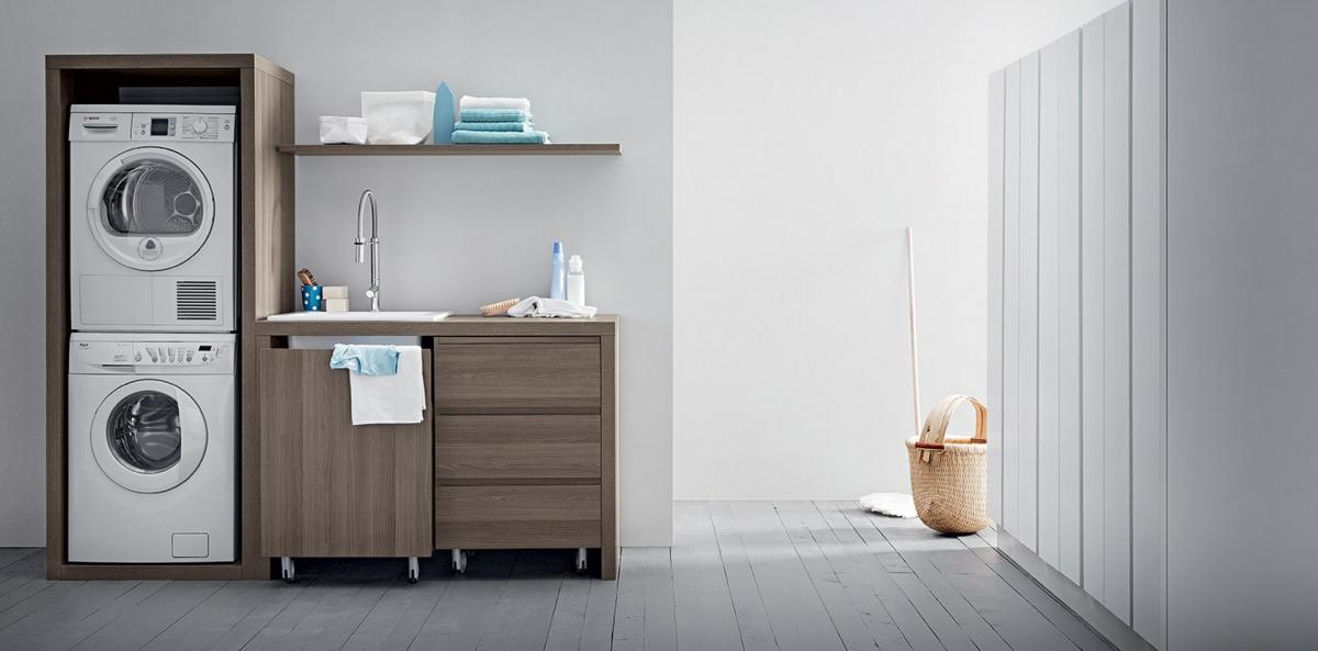 In bagno le nuove proposte per il bagno di birex frapiccini arredamenti - Lavatrice in bagno soluzioni ...